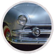 Baby Blue Ford Round Beach Towel