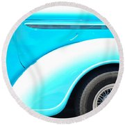 Baby Blue Round Beach Towel