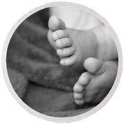 Baby Feet Round Beach Towel