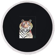 Baby Tiger Round Beach Towel