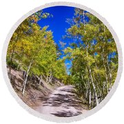 Back Country Road Take Me Home Colorado Round Beach Towel by James BO  Insogna