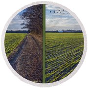 Back Forty - Gently Cross Your Eyes And Focus On The Middle Image Round Beach Towel