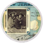 Back In Hackensack New Jersey Round Beach Towel