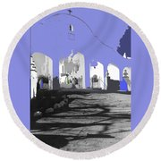 Back North Entrance #2 Of San Xavier Mission Tucson Arizona 1979-2013  Round Beach Towel