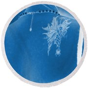 Back To Beauty Round Beach Towel