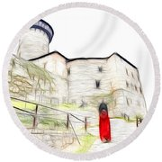 Back To Home Round Beach Towel