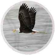 Back To The Nest Round Beach Towel