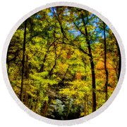 Backroads Of The Great Smoky Mountains National Park Round Beach Towel