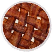 Bacon Weave Square Round Beach Towel