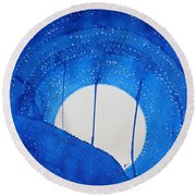 Bad Moon Rising Original Painting Round Beach Towel