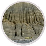 Badland Erosion Of Soft Conglomerate Sediment Round Beach Towel