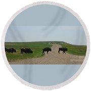 Badlands Buffalo Round Beach Towel