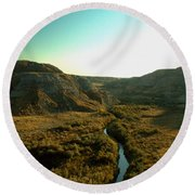 Badlands Coulee Round Beach Towel