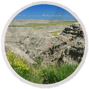 Badlands National Park  1 Round Beach Towel