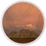 Badlands Softlight South Dakota Round Beach Towel