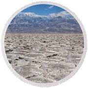 Badwater Basin - Death Valley Round Beach Towel