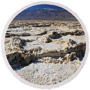 Badwater Telescope Peak Extremes   Round Beach Towel