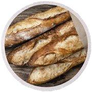 Baguettes Bread Round Beach Towel