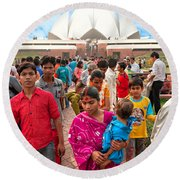 Baha'i House Of Worship - New Delhi - India Round Beach Towel