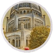 Baha'i  Temple In Wilmette Round Beach Towel