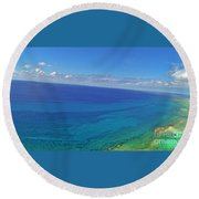 Bahama Colors Round Beach Towel