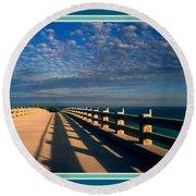 Bahia Honda Bridge In The Florida Keys Round Beach Towel