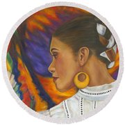 Baile Con Colores Round Beach Towel