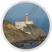 Baily Lighthouse Howth Round Beach Towel