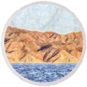 Baja Panorama Round Beach Towel