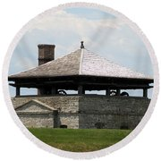 Bake House At Old Fort Niagara Round Beach Towel