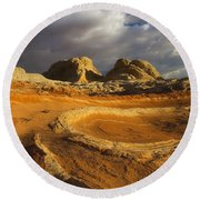 Baked Earth Round Beach Towel