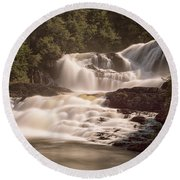 Bakers Brook Falls Round Beach Towel