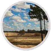 Bakers Ranch Round Beach Towel