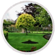 Bakewell Country Gardens - Bakewell Town - Peak District - England Round Beach Towel