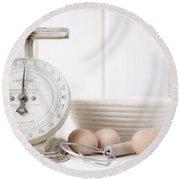 Baking Time Vintage Kitchen Scale Round Beach Towel