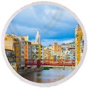 Balamory Spain Round Beach Towel