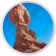 Balancing Rock Round Beach Towel