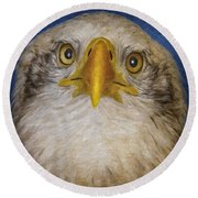 Bald Eagle 4 Round Beach Towel