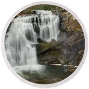 Bald River Falls Round Beach Towel