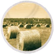 Baled And Ready Round Beach Towel