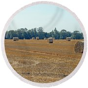 Bales Of Hay Round Beach Towel