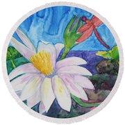 Bali Dragonfly Round Beach Towel