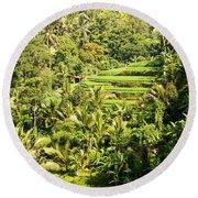 Bali Sayan Rice Terraces Round Beach Towel