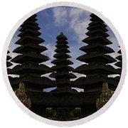Bali Water Temple Round Beach Towel