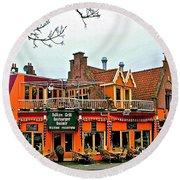 Balkan Restaurant In Enkhuizen-netherlands Round Beach Towel