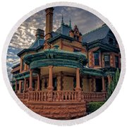Ball Eddleman Mcfarland House Round Beach Towel
