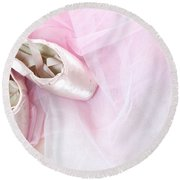 Ballerina Dreams Round Beach Towel