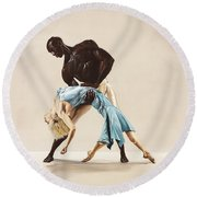Ballet 1  Round Beach Towel