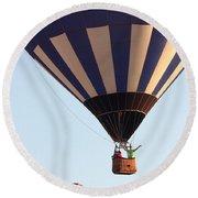 Balloon-2shotwave-7393 Round Beach Towel