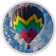 Balloon At Sunrise Round Beach Towel